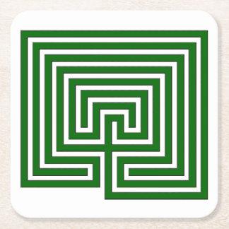 Behalten Sie Ihr Getränk im Labyrinth - Rechteckiger Pappuntersetzer