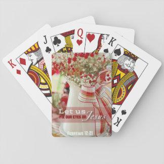 Behalten Sie Ihre Augen auf Jesus Spielkarten