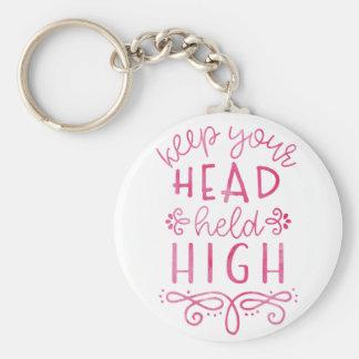 Behalten Sie Ihre Kopf gehaltene hohe motivierend Schlüsselanhänger