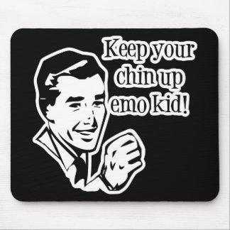 Behalten Sie Ihren Chin herauf Emo Kind! Mousepads