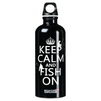 Behalten Sie kundengerechte Farben der Ruhe und Wasserflasche