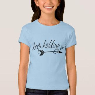Behalten Sie Mädchen-Shirt an halten T-Shirt