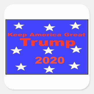 Behalten Sie politischen Slogan Amerikas große… Quadratischer Aufkleber