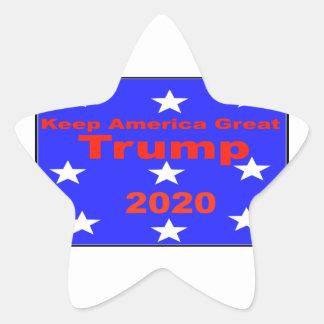 Behalten Sie politischen Slogan Amerikas große… Stern-Aufkleber