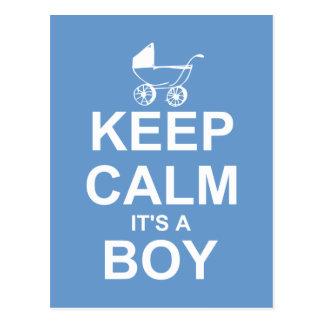 Behalten Sie Ruhe, die es eine Jungen-Postkarten-D