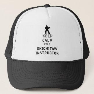 Behalten Sie Ruhe, die ich ein Okichitaw Lehrer Truckerkappe