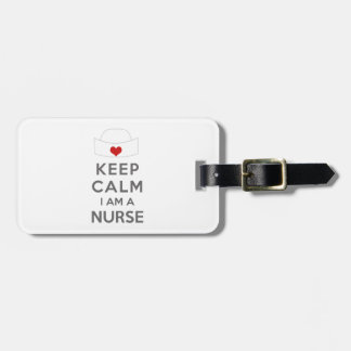 Behalten Sie Ruhe, die ich eine Krankenschwester Kofferanhänger