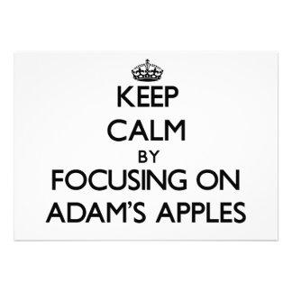 Behalten Sie Ruhe, indem Sie auf Adams Äpfel sich Individuelle Ankündigungskarte