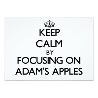 Behalten Sie Ruhe, indem Sie auf Adams Äpfel sich 12,7 X 17,8 Cm Einladungskarte