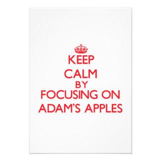 Behalten Sie Ruhe indem Sie auf Adams Äpfel sich Personalisierte Ankündigungskarten