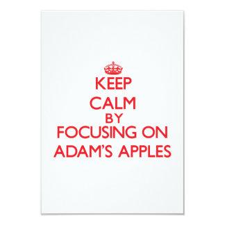 Behalten Sie Ruhe, indem Sie auf Adams Äpfel sich 8,9 X 12,7 Cm Einladungskarte
