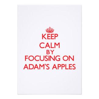 Behalten Sie Ruhe indem Sie auf Adams Äpfel sich Einladung