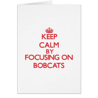 Behalten Sie Ruhe, indem Sie auf Bobcats sich Karte