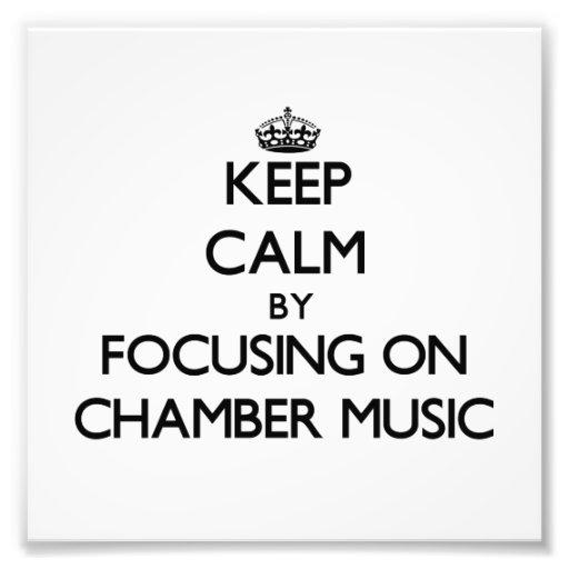 Behalten Sie Ruhe, indem Sie auf Kammer-Musik sich Foto Drucke