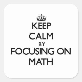 Behalten Sie Ruhe, indem Sie auf Mathe sich Quadratischer Aufkleber
