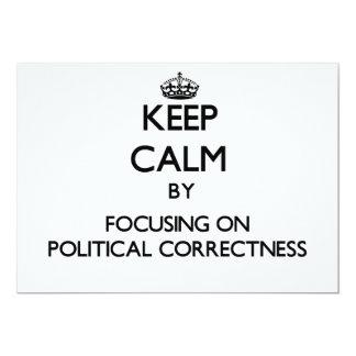 Behalten Sie Ruhe, indem Sie auf politische 12,7 X 17,8 Cm Einladungskarte