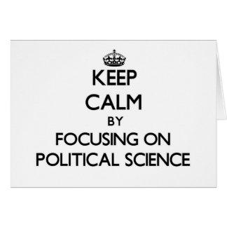 Behalten Sie Ruhe indem Sie auf politische Grußkarten
