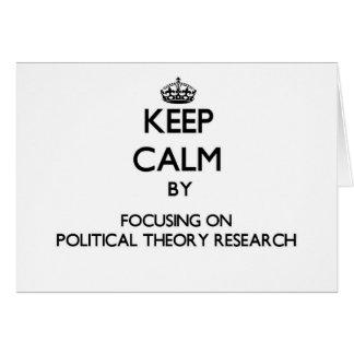Behalten Sie Ruhe indem Sie auf politische Grußkarte