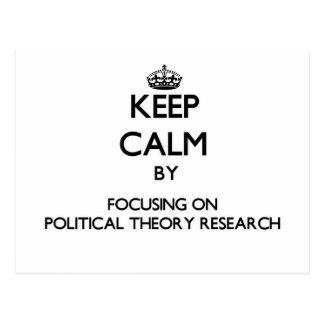 Behalten Sie Ruhe indem Sie auf politische Postkarte