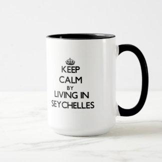 Behalten Sie Ruhe, indem Sie in Seychellen wohnen Tasse