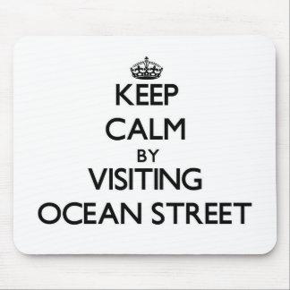 Behalten Sie Ruhe, indem Sie Ozean-Straße Florida Mauspads