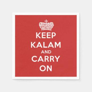 Behalten Sie Ruhe-/Kalam Serviette