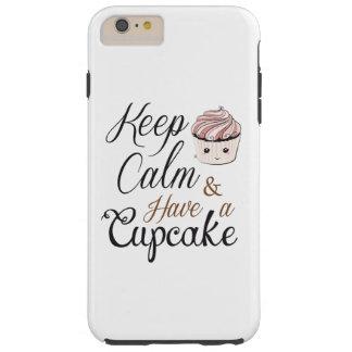 Behalten Sie Ruhe, kleinen Kuchen Kawaii zu essen Tough iPhone 6 Plus Hülle