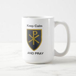 Behalten Sie Ruhe Tasse