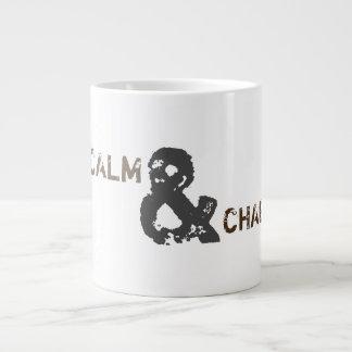 Behalten Sie Ruhe u. Chaga auf Tasse Jumbo-Tasse