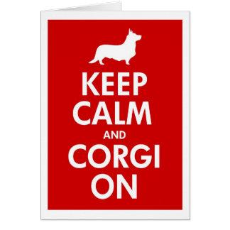 Behalten Sie Ruhe u. Corgi auf Wolljacke Karte