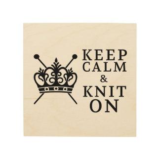 Behalten Sie Ruhe u. Strick an • Machen Sie Raum Holzwanddeko