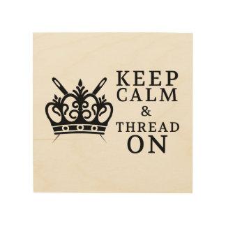 Behalten Sie Ruhe u. verlegen Sie an • Machen Sie Holzdruck