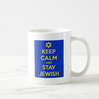 Behalten Sie Ruhe und bleiben Sie jüdisch Tasse