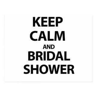 Behalten Sie Ruhe und Brautparty! Postkarte