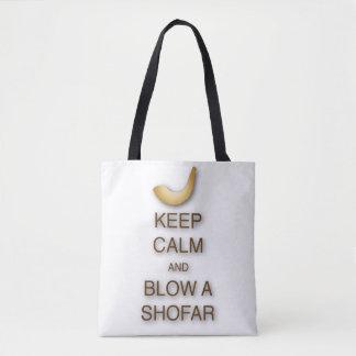 Behalten Sie Ruhe und brennen Sie einen Shofar Tasche