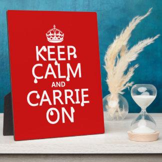 Behalten Sie Ruhe und Carrie an - Blut - alle Fotoplatte