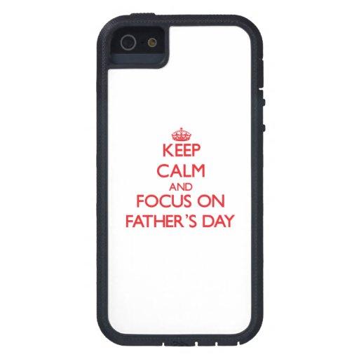 Behalten Sie Ruhe und Fokus am Vatertag iPhone 5 Hüllen