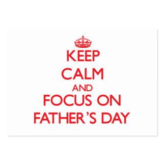 Behalten Sie Ruhe und Fokus am Vatertag Mini-Visitenkarten