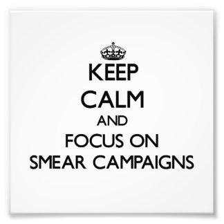 Behalten Sie Ruhe und Fokus auf Abstrich-Kampagnen Fotografischer Druck