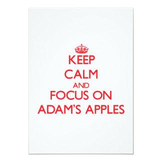 Behalten Sie Ruhe und Fokus auf ADAMS ÄPFELN Individuelle Ankündigungen