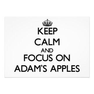 Behalten Sie Ruhe und Fokus auf Adams Äpfeln Personalisierte Einladung