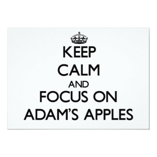 Behalten Sie Ruhe und Fokus auf Adams Äpfeln 12,7 X 17,8 Cm Einladungskarte