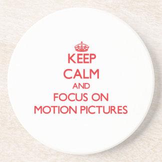 Behalten Sie Ruhe und Fokus auf Bewegungs-Bildern Untersatz
