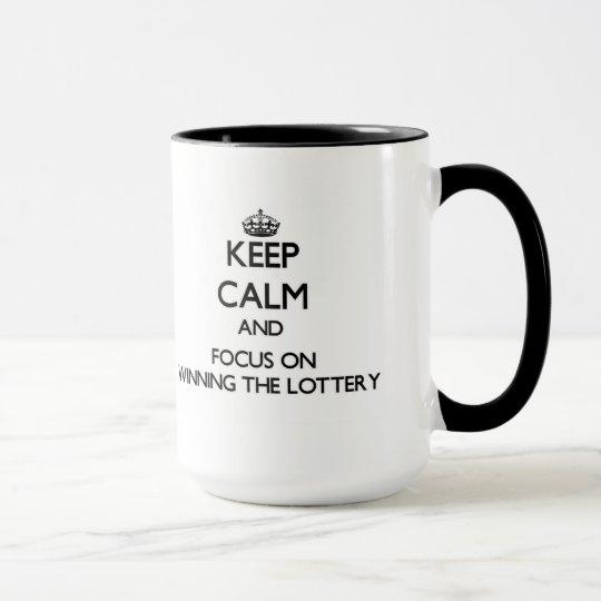Behalten Sie Ruhe und Fokus auf dem Gewinnen der Tasse