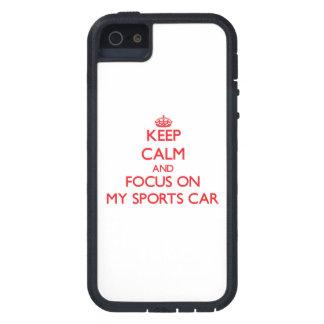 Behalten Sie Ruhe und Fokus auf meinem Sport-Auto iPhone 5 Schutzhülle