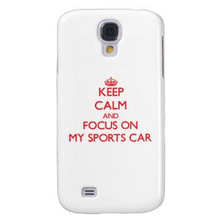 Behalten Sie Ruhe und Fokus auf meinem Sport-Auto Galaxy S4 Hülle