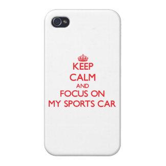 Behalten Sie Ruhe und Fokus auf meinem Sport-Auto Hülle Fürs iPhone 4