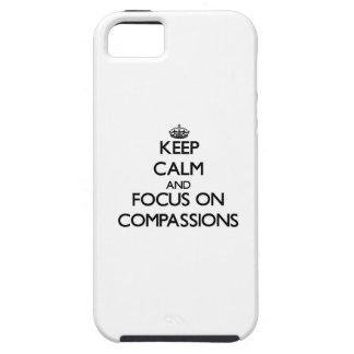 Behalten Sie Ruhe und Fokus auf Mitleiden iPhone 5 Hülle