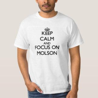 Behalten Sie Ruhe und Fokus auf Molson T-Shirt