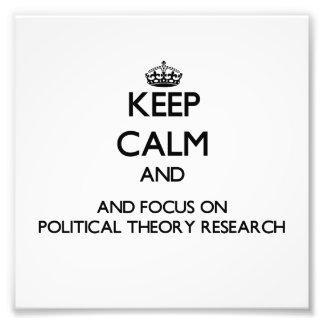 Behalten Sie Ruhe und Fokus auf politische Photodruck